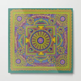 Patience Mandala Metal Print