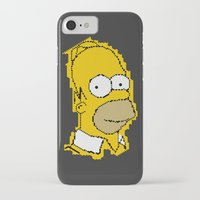 simpson iPhone & iPod Cases featuring Homer Simpson by Osman SARGIN