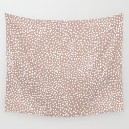 Little wild cheetah spots animal print neutral home trend warm dusty rose coral Wall Tapestry