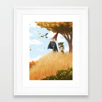 over the garden wall Framed Art Prints featuring Over the Garden Wall by Kiana