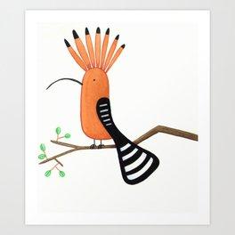 Hoopoe Art Print