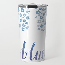 Blue for you / Forget-me-nots / / Valentine's Day Card Travel Mug