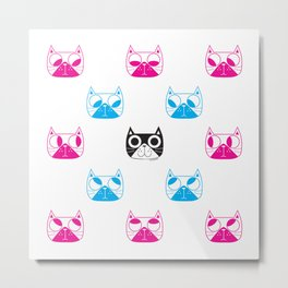 We are watching you. MEOW MEOW!!! Metal Print