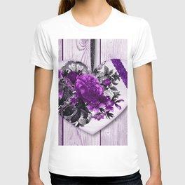 Violet heart | Coeur violet T-shirt