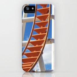 Empty roller coaster on bright winter's day at Coney Island iPhone Case