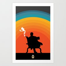 The illusive man Art Print