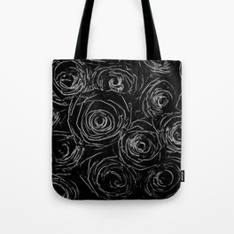 Black White Abstract Tote Bag