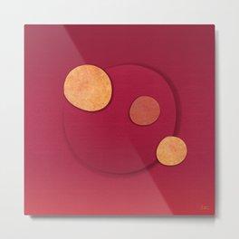 """Rose Gold & Cherry Polka Dots (Pattern)"" Metal Print"