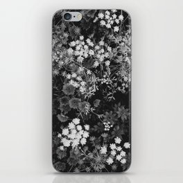 The Flowers (Black and White) iPhone Skin