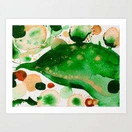 Green Study Art Print