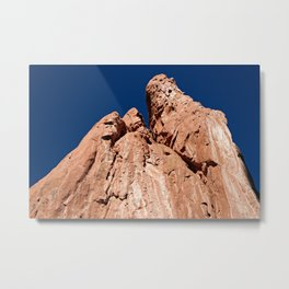 Garden of the Gods Deep Blue Metal Print