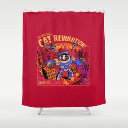 Cat Revolution Shower Curtain