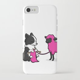 Border Collie Knitting iPhone Case