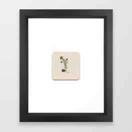 Detective Herb - Miniature Watercolor Painting Print from My Favorite Murder Framed Art Print