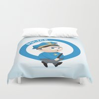 police Duvet Covers featuring Police by Emir Simsek