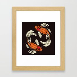 Two Koi Framed Art Print