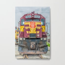 Wisconsin Central Ltd Engine 7525 Operation Lifesaver Livery Train Metal Print