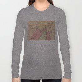 Vintage Map of Salem Massachusetts (1871) Long Sleeve T-shirt