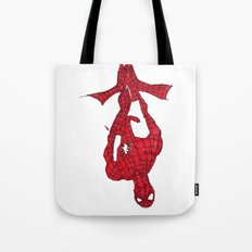 Hanging Out. Spiderman Tote Bag