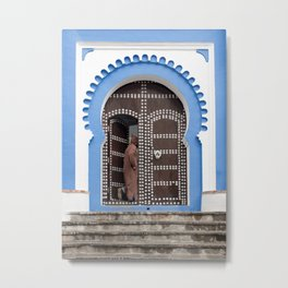 Scenes from the Blue City - Chefchaouen, Morocco Metal Print