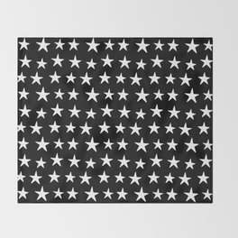 Star Pattern White On Black Decke