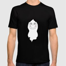 Baby Ghost Playing MEDIUM Mens Fitted Tee Black