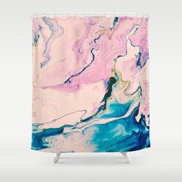 Ebb & Flow Marble Shower Curtain