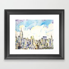 NYC Scape Midtown Framed Art Print