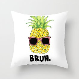 Bruh Throw Pillow
