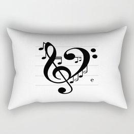 Love Music II Rectangular Pillow