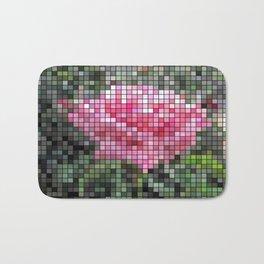 Pink Roses in Anzures 6 Mosaic Bath Mat