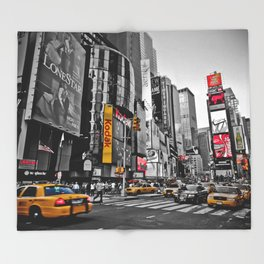 Times Square - Hyper Drop Throw Blanket