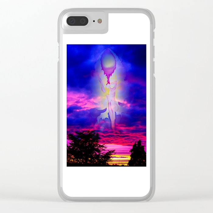 Heavenly apparition Clear iPhone Case