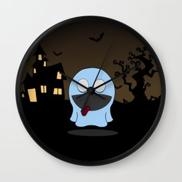 cute little ghost Wall Clock