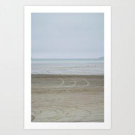 Airport on the beach Art Print