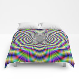 Psychedelic Octagon Pulse Comforters