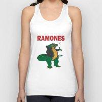 ramones Tank Tops featuring Ramonasaurus  by Christopher Chouinard