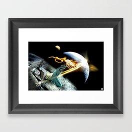 Intergalactic BBOY Framed Art Print