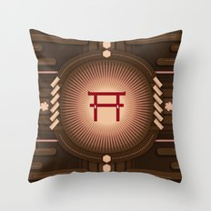 Torii no power Throw Pillow
