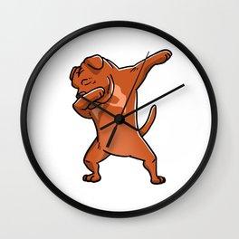 Dabbing Dogue De Bordeaux Dog Dab Dance Wall Clock