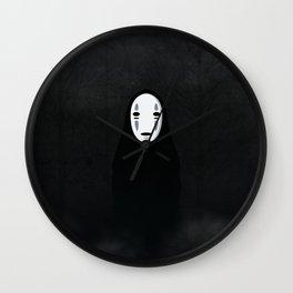 kaonashi in the woods Wall Clock