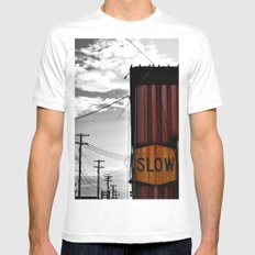 Slow Your Roll Mens Fitted Tee MEDIUM White