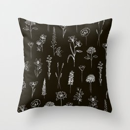 Patagonian wildflowers Throw Pillow