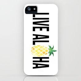 Live Aloha - Pineapple iPhone Case