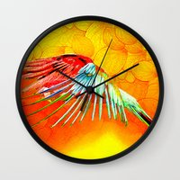 parrot Wall Clocks featuring Parrot by Ganech joe
