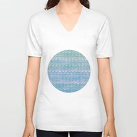scales V-neck T-shirts featuring Mermaid Scales by Sunny Horizon