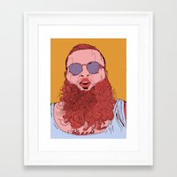 action bronson Framed Art Prints featuring Action Bronson by Dewey Bryan Saunders