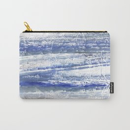 Gray Blue Marble blurred watercolor texture Carry-All Pouch