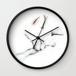 Sleeping Cat in September Wall Clock