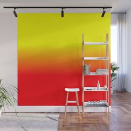 Neon Red and Neon Yellow Ombré  Shade Color Fade Wall Mural
